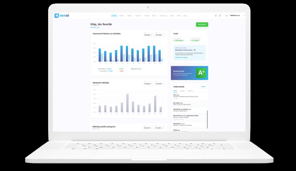 Screenshot funkcie z aplikácie Accai